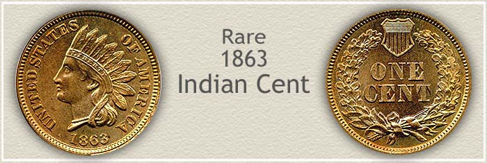 Rare 1863 Indian Penny