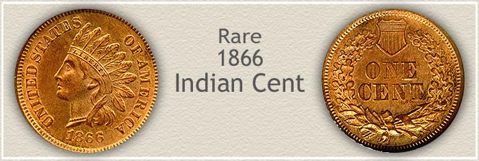 Rare 1866 Indian Penny