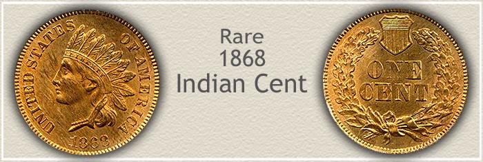 Rare 1868 Indian Penny