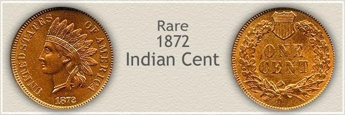 Rare 1872 Indian Penny