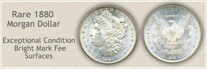 Rare 1880 Morgan Silver Dollar