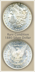 Rare 1880 Morgan Silver Dollar