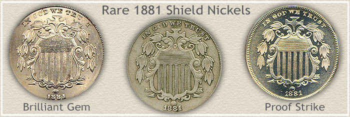 Rare 1881 Shield Nickels