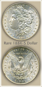 Rare 1884-S Morgan Silver Dollar