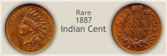 Rare 1887 Indian Penny