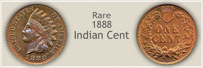 Rare 1888 Indian Penny
