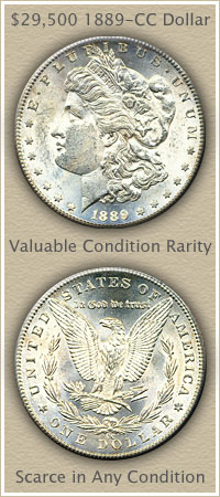 Rare 1889 Morgan Silver Dollar