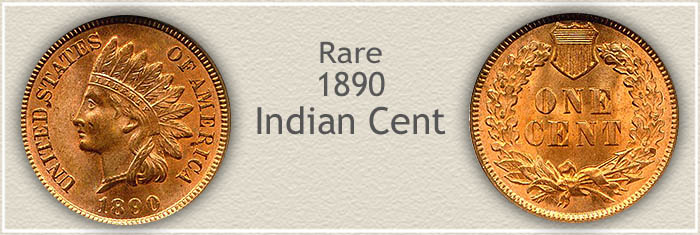 Rare 1890 Indian Penny
