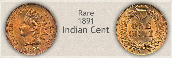Rare 1891 Indian Penny