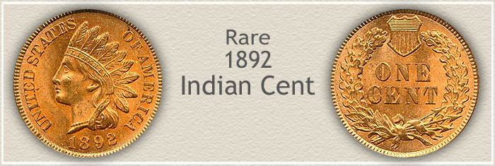 Rare 1892 Indian Penny