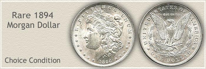 Rare 1894 Morgan Silver Dollar