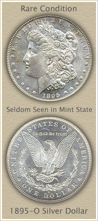 Rare 1895-O Morgan Silver Dollar