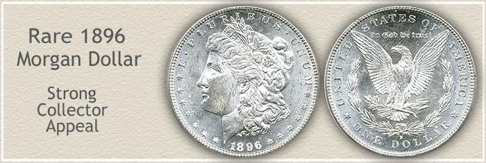 Rare 1896-S Morgan Silver Dollar