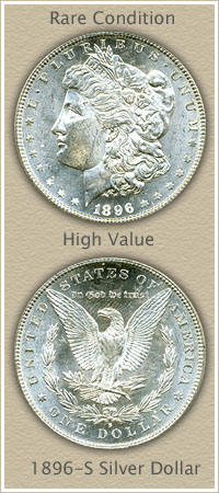 Rare 1896-S Morgan Silver Dollar