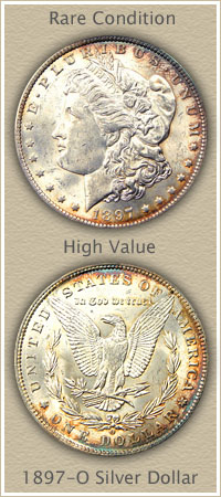 Rare 1897-O Morgan Silver Dollar