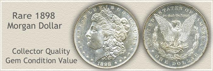 Rare 1898-S Morgan Silver Dollar