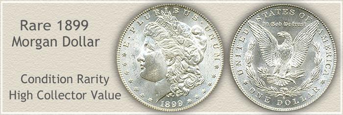 Rare 1899-S Morgan Silver Dollar