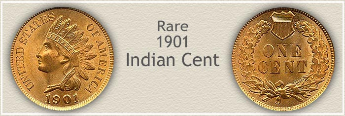 Rare 1901 Indian Penny