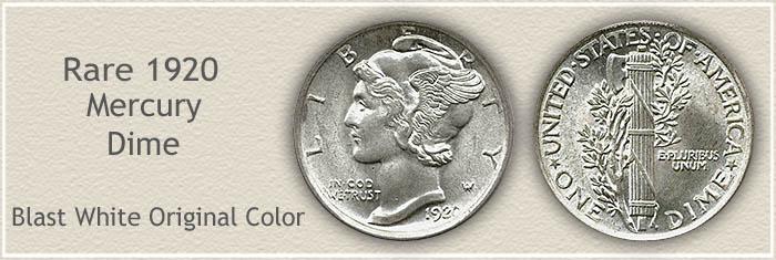 Rare 1920 Mercury Dime