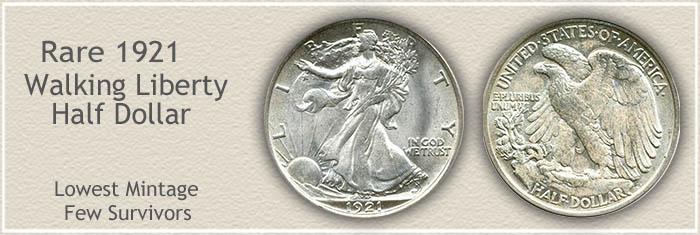 Rare 1921 Half Dollar