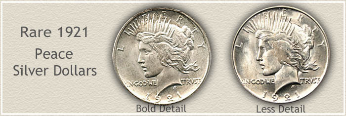 rare peace silver dollars