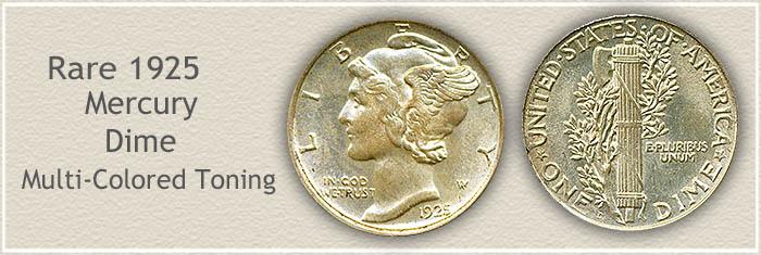 Rare 1925 Mercury Dime