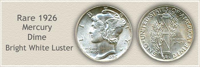 Rare 1926 Mercury Dime