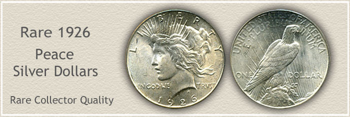 Rare 1926 Peace Silver Dollar