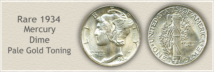 Rare 1934 Mercury Dime