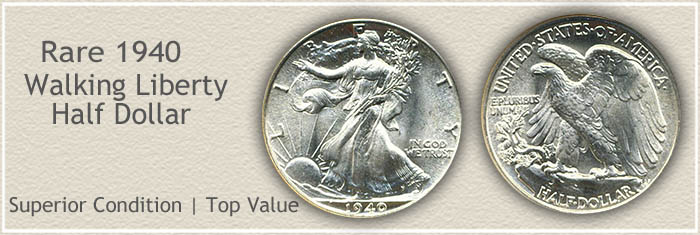 Rare 1940 Half Dollar