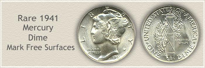 Rare 1941 Mercury Dime