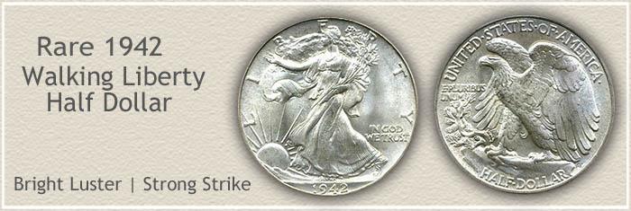 Rare 1942 Half Dollar