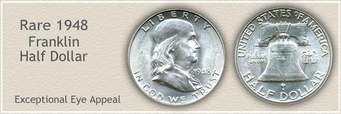 Rare 1948 Franklin Half Dollar