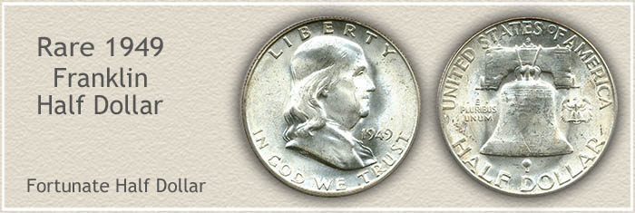 Rare 1949 Franklin Half Dollar