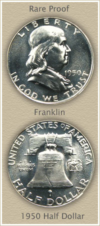 Rare 1950 Franklin Half Dollar