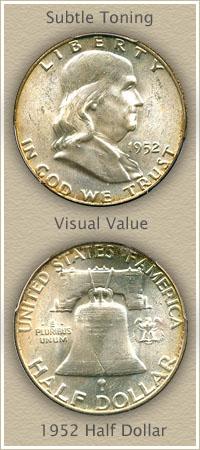 Rare 1952 Franklin Half Dollar