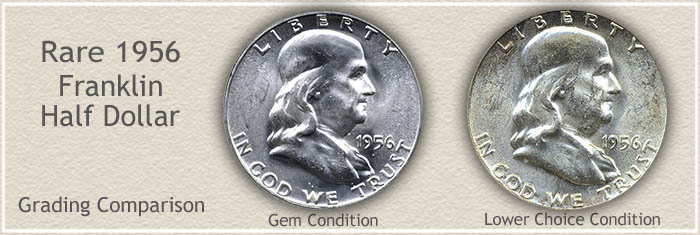 Rare 1956 Franklin Half Dollar