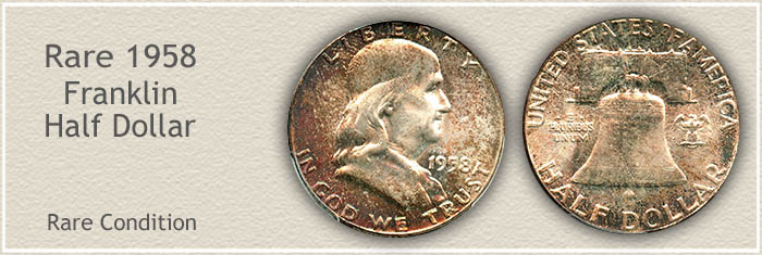 Rare 1958 Franklin Half Dollar