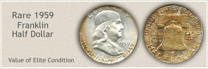 Rare 1959 Franklin Half Dollar