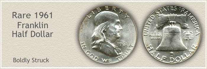 Rare 1961 Franklin Half Dollar
