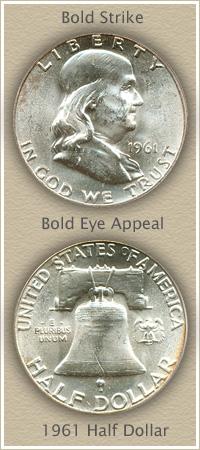 Rare 1961 Franklin Half Dollar