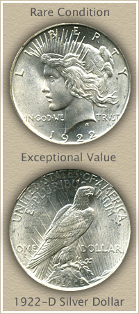 Conditionally Rare 1922 Peace Silver Dollar