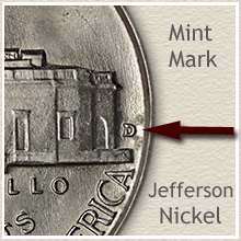 Mintmark Location on the Jefferson Nickel