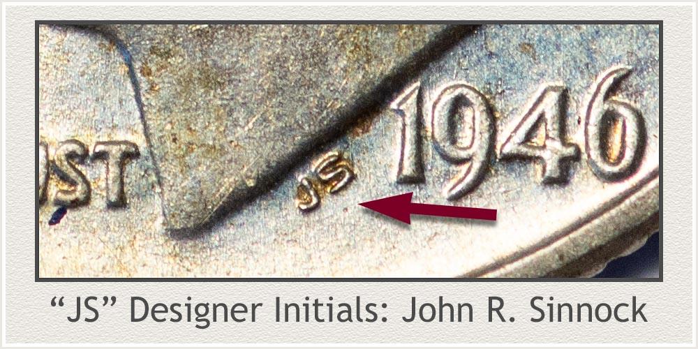 Designer's Initials Roosevelt Dime