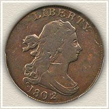 Rare 1802 Half Cent