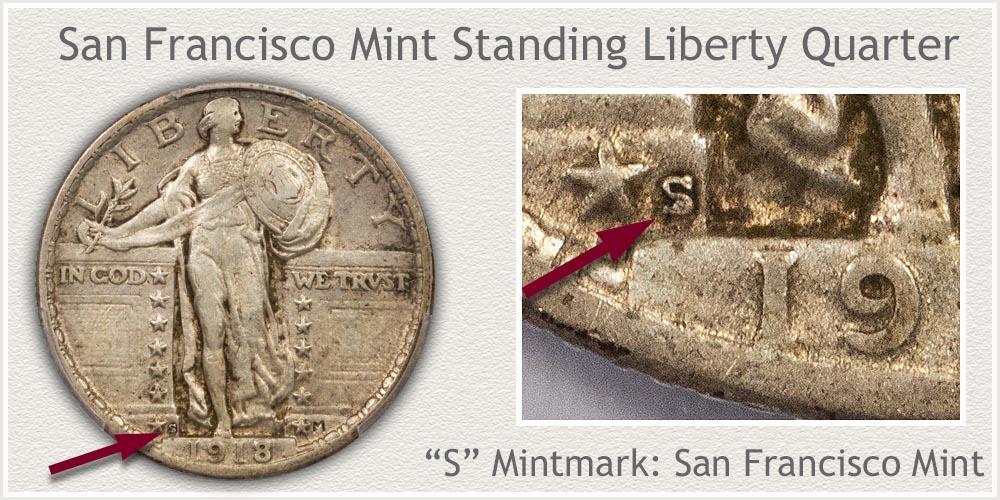 1917-S Standing Liberty Quarter