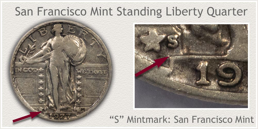 1929-S Standing Liberty Quarter
