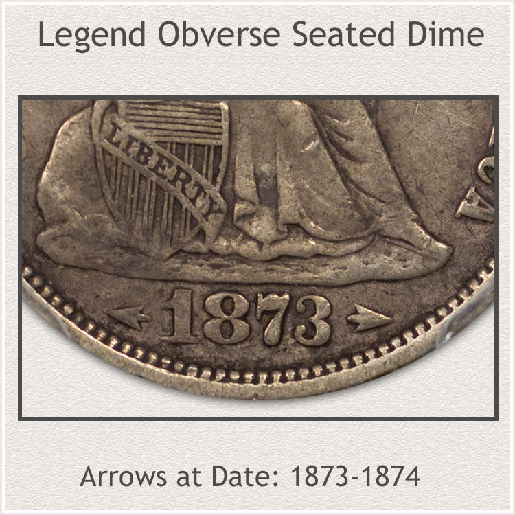 Arrows at Date Sub-Variety 1873 to 1874
