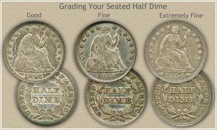 Seated Half Dime Grading Image