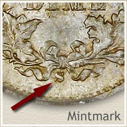 Seated Half Dime Mintmark Location